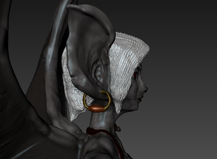 Side view head