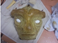 Unfinished mask front view