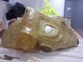 Unfinished mask side view